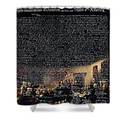 The Signing of The United States Declaration of Independence v2 Shower Curtain by Wingsdomain Art and Photography