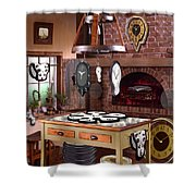 The Soft Clock Shop 2 Shower Curtain by Mike McGlothlen
