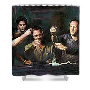 The Sopranos Shower Curtain by Viola El