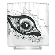 The Sorcerer's Divine Dance Of Infinite Divine Light Shower Curtain by Daina White