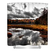 The South End Of Cary Lake Shower Curtain by David Patterson