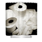 The Spare Rolls 2 - Toilet Paper - Bathroom Design - Restroom - Powder Room Shower Curtain by Andee Design