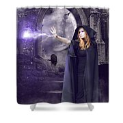 The Spell Is Cast Shower Curtain by Linda Lees