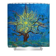 The Sun Tree Shower Curtain by Stefan Duncan
