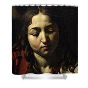 The Supper At Emmaus Shower Curtain by Michelangelo Merisi da Caravaggio