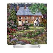 The Sweet Garden Shower Curtain by Chuck Pinson