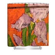 The Tall One High 5 Shower Curtain by Sherry Harradence