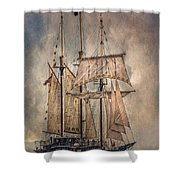 The Tall Ship Peacemaker Shower Curtain by Dale Kincaid