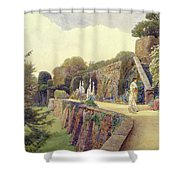 The Terrace At Berkeley Castle Shower Curtain by George Samuel Elgood
