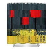 The Three Trees - J021580118  Shower Curtain by Variance Collections