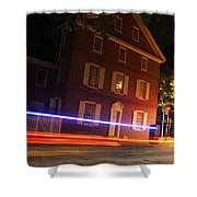 The Todd House Philadelphia Shower Curtain by Christopher Woods