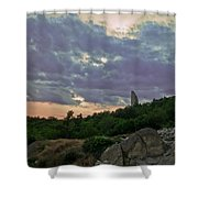 The Tower Shower Curtain by Eti Reid