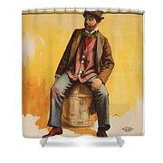 The Tramp Balladist Shower Curtain by Aged Pixel
