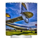 The Transatlantic Queen Shower Curtain by Marvin Spates