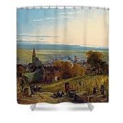 The Travellers Shower Curtain by Christian Ernst Bernhard Morgenstern