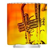 The Trumpet Shower Curtain by Karol Livote