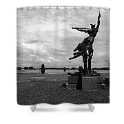The Trumpet Sounds At Gettysburg Shower Curtain by James Brunker