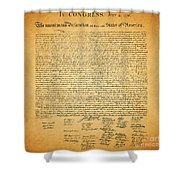 The United States Declaration of Independence - square Shower Curtain by Wingsdomain Art and Photography