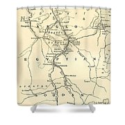 The Upper Nile Shower Curtain by English School