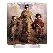 The Virgin Shower Curtain by Abbott Handerson Thayer