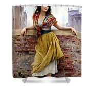 The Water Carrier Shower Curtain by Eugene de Blaas