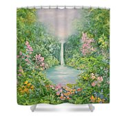 The Waterfall Shower Curtain by Hannibal Mane
