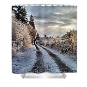 The Way Home Shower Curtain by Rory Sagner