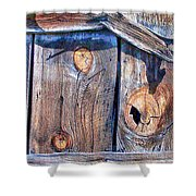 The Weathered Abstract From A Barn Door Shower Curtain by Bob and Nadine Johnston