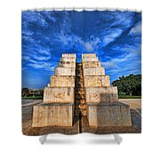 The White City Shower Curtain by Ron Shoshani