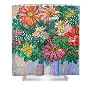 The White Vase Shower Curtain by Kendall Kessler