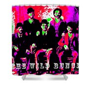 The Wild Bunch With Text 20130212 Shower Curtain by Wingsdomain Art and Photography