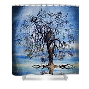 The Wishing Tree Shower Curtain by John Edwards