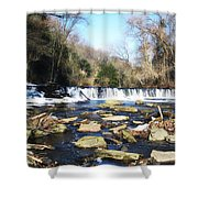 The Wissahickon Creek In February Shower Curtain by Bill Cannon
