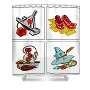 The Wonderful Wizard Of Oz Shower Curtain by Irina Sztukowski