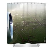 The World From Above. Holland Shower Curtain by Ausra Paulauskaite
