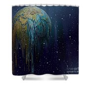 The World Is Melting Shower Curtain by Liane Wright