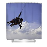 Thelma and Louise - Coney Island  2013 - Bklyn - NY Shower Curtain by Madeline Ellis