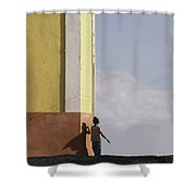 There is a super hero inside all of us.. Shower Curtain by A Rey