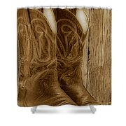 These Boots Were Made For Shower Curtain by Cheryl Young