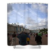 They Come To Catherine Palace - St. Petersburg - Russia Shower Curtain by Madeline Ellis