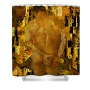 Thinking About You Shower Curtain by Kurt Van Wagner