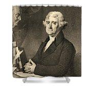 Thomas Jefferson Shower Curtain by American School