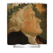 Thomas Jefferson Shower Curtain by Michael Sokolnicki