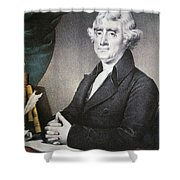 Thomas Jefferson Shower Curtain by Nathaniel Currier