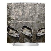 Three Shower Curtain by Debra and Dave Vanderlaan