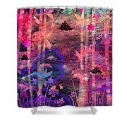 Three Ships Shower Curtain by Rachel Christine Nowicki