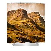 Three Sisters. Glencoe. Scotland Shower Curtain by Jenny Rainbow