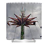 THRILL TOWER Shower Curtain by Skip Willits