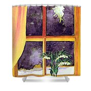 Through The Window Shower Curtain by Patricia Griffin Brett