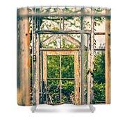 Thru Times Window Shower Curtain by Karol  Livote
